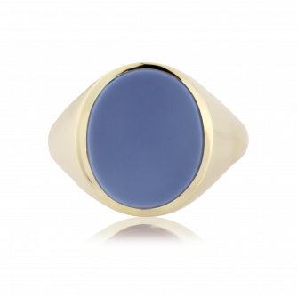 Stone Set Oval Signet Ring | Sardonyx | 14ct Yellow Gold