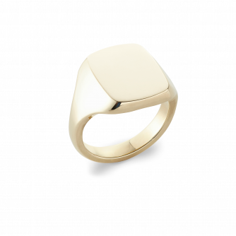 14ct Yellow Gold Cushion Signet Ring