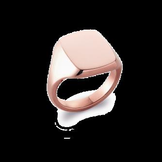 9ct Rose Gold Cushion Signet Ring