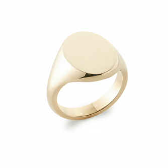 14ct Yellow Gold Signet Ring, Oxford Oval | Extra Heavy Weight