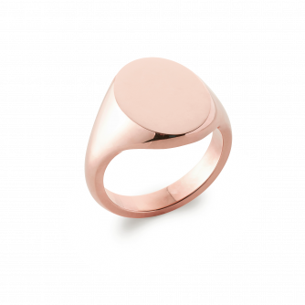 18ct Rose Gold Signet Ring, Oxford Oval | Extra Heavy Weight