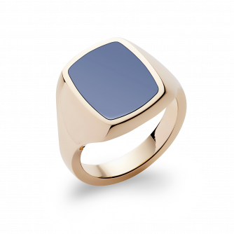 Stone Set Cushion Signet Ring | Sardonyx | 14ct Yellow Gold
