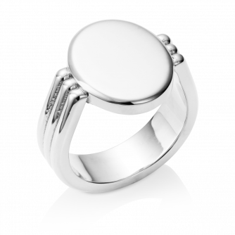 Oval Era Signet Ring 9ct White Gold