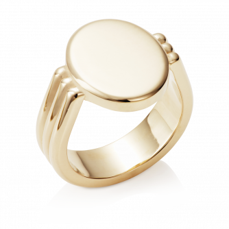 Oval Era Signet Ring 18ct Yellow Gold