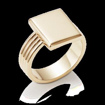 Stone Set Era Cushion Signet Ring