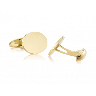 9ct Yellow Gold Cufflinks, Swivel Back
