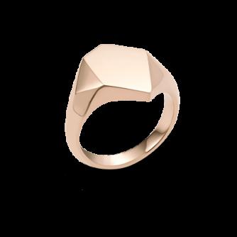 18ct Rose Gold Kournas 1 Small Signet ring