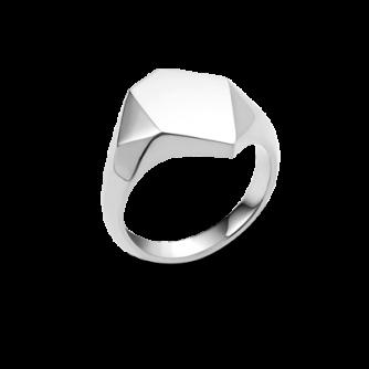 18ct White Gold Kournas 1 Small Signet ring