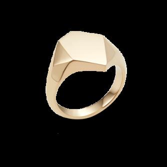 18ct Yellow Gold Kournas 1 Small Signet ring