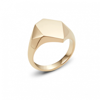 9ct Yellow Gold Kournas 1 Small Signet ring