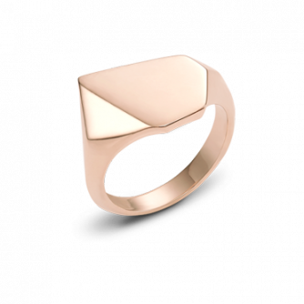 18ct Rose Gold Kournas 2 Small Signet ring