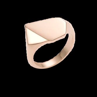 9ct Rose Gold Kournas 2 Small Signet ring