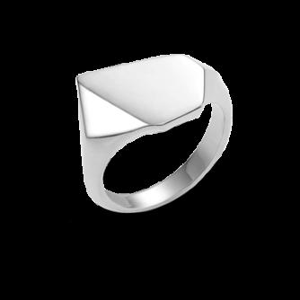 9ct White Gold Kournas 2 Small Signet ring