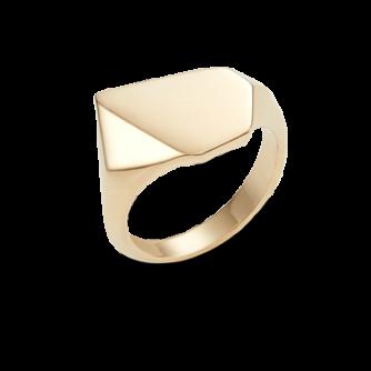 18ct Yellow Gold Kournas 2 Small Signet ring