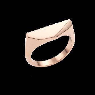 18ct Rose Gold Kournas 3 Small Signet ring