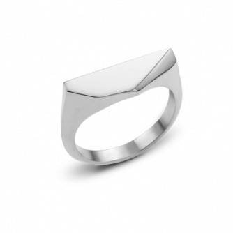 9ct White Gold Kournas 3 Small Signet ring