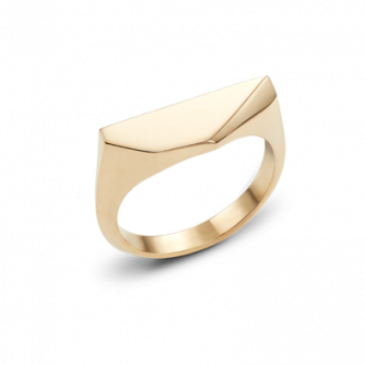 18ct Yellow Gold Kournas 3 Small Signet ring