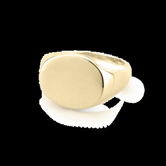 Landscape Oval Signet Ring