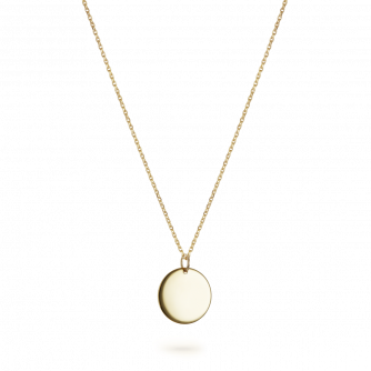 9ct Yellow Gold Small Round Pendant