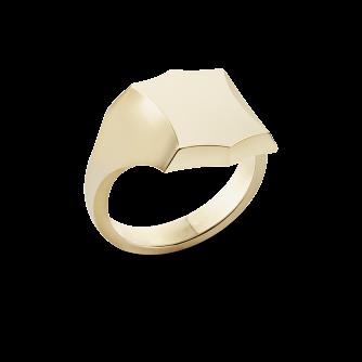Shield Pavise Signet Ring