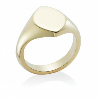 14ct Yellow Gold Signet Ring, Marquise