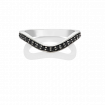 Black Diamond Keeper Eternity Ring, 18ct White Gold