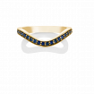 Blue Sapphire Keeper Eternity Ring, 18ct Yellow Gold