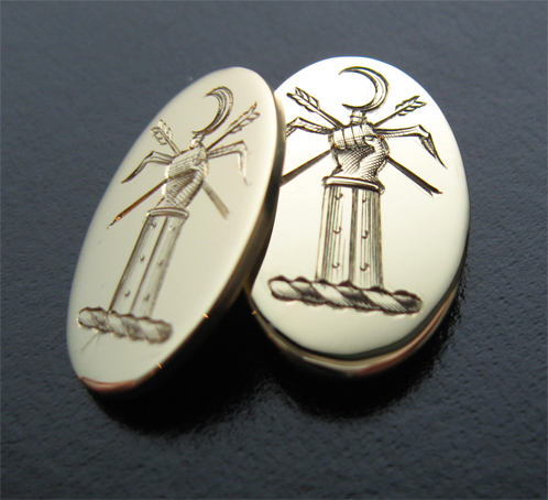 Hand Engraved Cufflinks