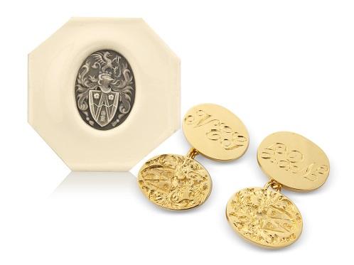 Seal engraved cufflinks