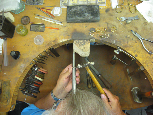 The jewellers bench